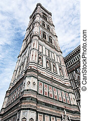 Giotto's Campanile in Florence, Tuscany, Italy, cultural...