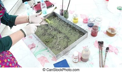 Ebru - The art of painting on the water