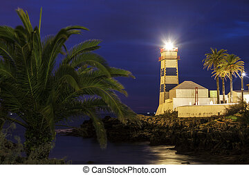 Santa Marta Lighthouse in Cascais. Cascais, Lisbon, Portugal
