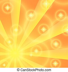 Sun rays background. Yellow