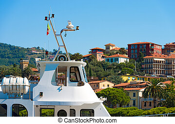 Ferry Boat for Cinque Terre in Lerici - Detail of an ferry...