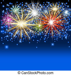 Fireworks Background - An abstract illustration of fireworks
