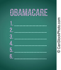 obama care list board illustration design graphic