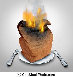 Burning Calories Concept - Burning calories or burn calorie...