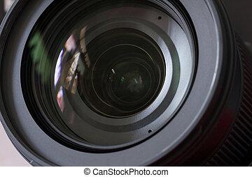 Close up camera lens