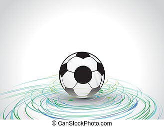 football - 3d style football with cyclone wave line...