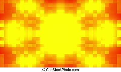 Abstract red sun - Abstract red and yellow sun on digital...