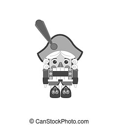 Nutcracker icon vector - Nutcracker icon on the white...