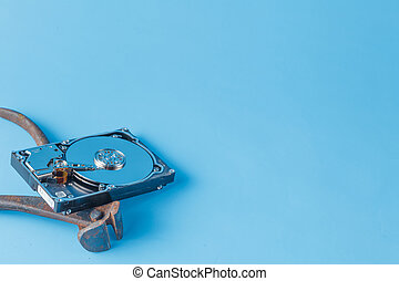 Tools for repair HDD with open disk - Funny repair service...