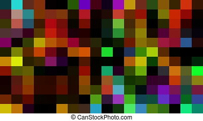 Multicolored Digital Mosaic on black background