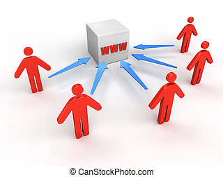 People to WWW - Business concept image
