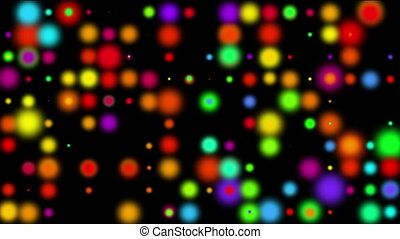 Multicolored blurred lights - Multicolored blurred bokeh...