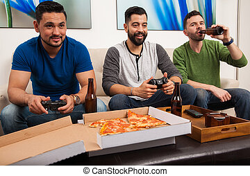 Hanging out and playing videogames