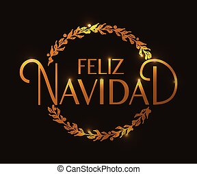 Hand sketched Feliz Navidad (Happy New Year in spanish)...