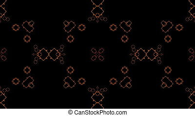 Multicolored Squares kaleidoscope - Multicolored Squares...
