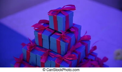 Present Boxes on a Table - Present box on a table