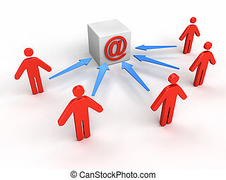 People to e-mail - Business concept image