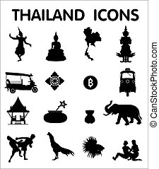 Thailand icons - Sixteen newest Thailand icons