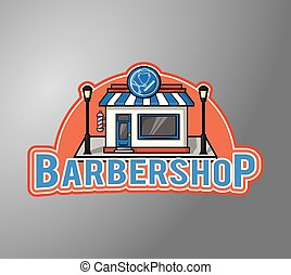 barbeiro, loja, building, ,