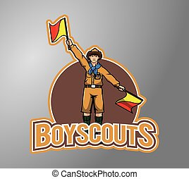 Boy scout illustration