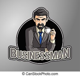 Business man enjoying coffee