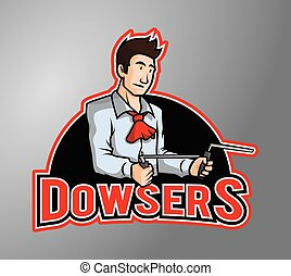 Dowser man illustration