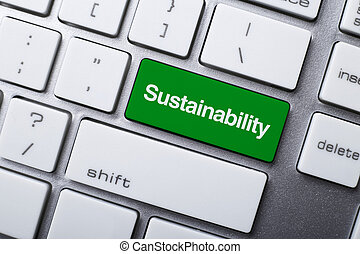 Sustainability Button On Keyboard