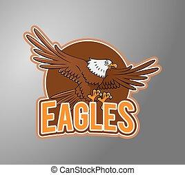 Eagle Illustration design badge