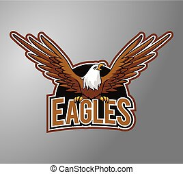 Eagle Illustration design badge