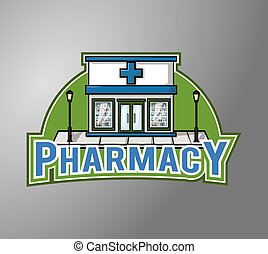 Pharmacy Illustration design badge