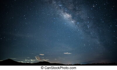 Times lapse Milky Way. - Times lapse Milky Way Galaxy at...