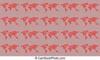 World map flat design Seamless pattern - World map seamless...