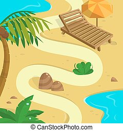 Tropical Island background. Template for your design.