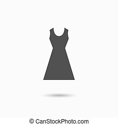 Woman dress icon Elegant dress symbol Vector