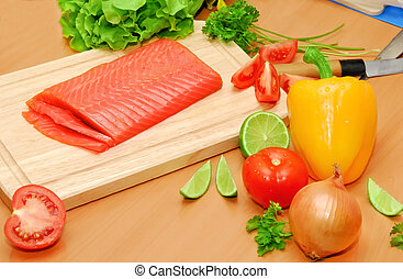 cookery healthy cooking with healthy products salmon and...