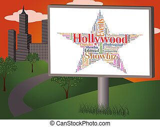 Hollywood Star Means Los Angeles And California - Hollywood...