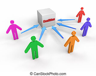 coalition of People  - Business concept image