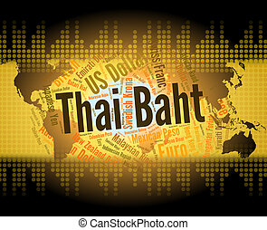 Thai Baht Shows Forex Trading And Banknote - Thai Baht...