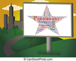 Pantomime Star Represents Stage Theaters And Dramas -...