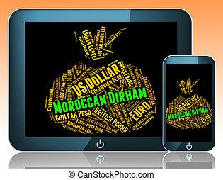 Moroccan Dirham Shows Morocco Dirhams And Currencies -...