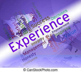 Experience Words Shows Competency Proficient And...