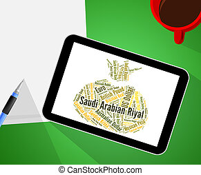 Saudi Arabian Riyal Indicates Forex Trading And Coinage -...