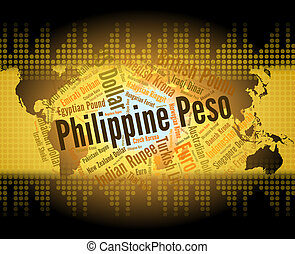 Philippine Peso Means Exchange Rate And Banknote -...