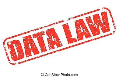 DATA LAW red stamp text on white