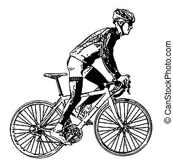 race bicyclist illustration 3