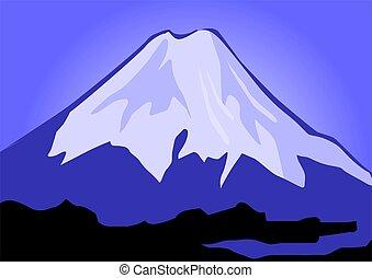 Everest - Illustration of the cliffs of mount Everest