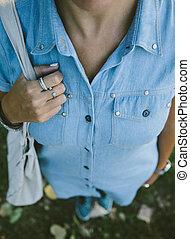 Female cleavage