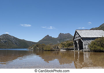 Cradle Mountain Tasmania and boat shed - Beautiful landscape...