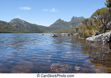 Lake Dove at Cradle Mountain Tasmania Australia