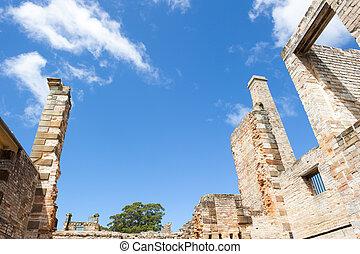 Ruin Port Arthur Convict Settlement Tasmania - World...